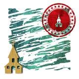 Igreja, logotipo, ilustração 3D Fotografia de Stock Royalty Free