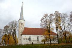 Igreja luterana, Johvi, Estónia. Imagem de Stock