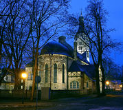 Igreja luterana velha no centro do recurso de Jurmala, Letónia Imagem de Stock