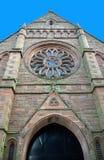 Igreja média da fachada, Tay Street, Perth, Escócia - Rose Window Fotografia de Stock