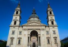 A igreja a maior da basílica do ` s de St Stephen em Budapest, Hungria É um das igrejas as mais bonitas e as mais significativas  foto de stock