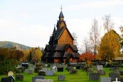 A igreja a maior da pauta musical em Noruega desde 1200 y Imagens de Stock Royalty Free