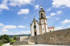 Igreja Matriz在帕雷德斯de Coura在Norte地区,葡萄牙 免版税库存图片