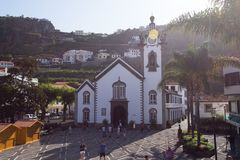 Igreja Matriz da Ribeira Brava, Фуншал стоковое фото