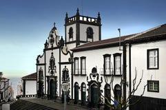 Igreja Matriz de Sao Miguel Foto de Stock Royalty Free