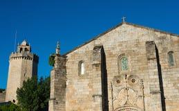 Igreja Matriz e Torre fazem Relógio Imagem de Stock Royalty Free