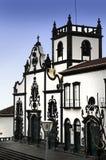Igreja Matriz gör Sao Miguel Arkivfoton