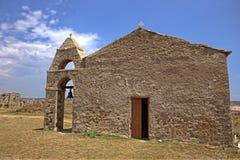 Igreja medieval dentro do Methoni, Grécia Fotos de Stock Royalty Free