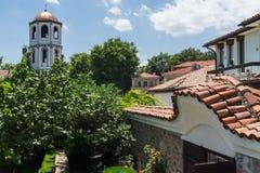 Igreja medieval do St Constantim e do St Elena na cidade velha de Plovdiv, Bulgária fotografia de stock royalty free