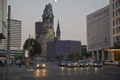 Igreja memorável de Kaiser Wilhelm em Berlim Imagem de Stock Royalty Free