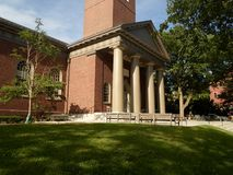 Igreja memorável, jarda de Harvard, Universidade de Harvard, Cambridge, Massachusetts, EUA Imagem de Stock