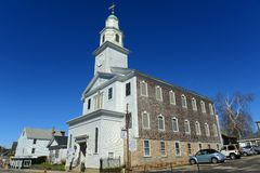A igreja metodista unida de St Paul, Newport, Rhode - ilha imagens de stock