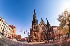 Igreja metodista unida em Baltimore, DM, EUA imagens de stock royalty free