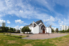 Igreja moderna em Gdansk Foto de Stock Royalty Free