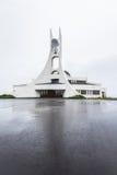 Igreja moderna Stykkisholmskirkja em Islândia Fotografia de Stock Royalty Free