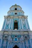 Igreja muito altamente azul em Kiev fotos de stock