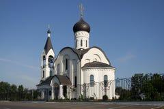 A igreja não é longe de Moscou Fotos de Stock