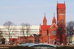 Igreja na cidade de Gomel Fotos de Stock Royalty Free