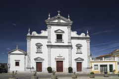Igreja na cidade de Portugalia Beja Fotografia de Stock