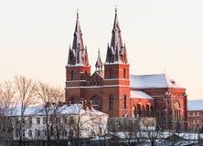 Igreja na cidade de Rezekne Fotos de Stock Royalty Free