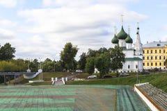 Igreja na cidade de YAROSLAVL, Rússia Foto de Stock Royalty Free