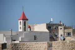 Igreja na cidade velha do acre, Israel imagem de stock royalty free