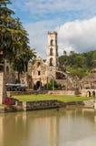 Igreja na fazenda Santa Maria Regla, fidalgo, México foto de stock