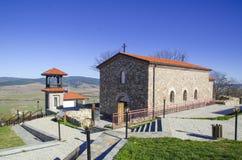 A igreja na fortaleza de Cari Mali Grad, Bulgária foto de stock