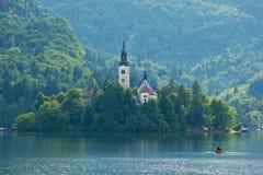 Igreja na ilha Fotografia de Stock Royalty Free