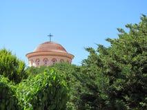 Igreja na ilha de Kevalonia, Grécia Fotografia de Stock Royalty Free