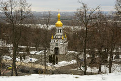 A igreja na inclinação em Kiev Imagem de Stock
