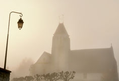 Igreja na névoa Imagem de Stock Royalty Free