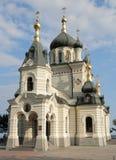 Igreja na rocha Foto de Stock