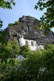 Igreja na rocha Foto de Stock Royalty Free