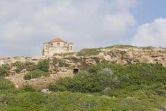 Igreja na rocha, Chipre Foto de Stock Royalty Free