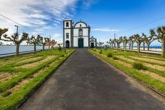 Igreja na vila de Fenais a Dinamarca Ajuda no Sao Miguel Island Imagens de Stock