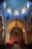 Igreja na vila de Fira, ilha de Santorini Imagem de Stock