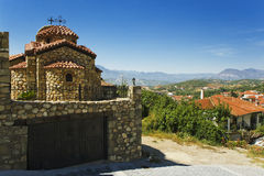 Igreja na vila de Kastraki, Greece Foto de Stock