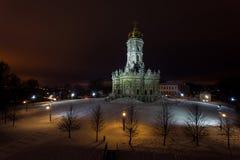 A igreja na vila Dubrovitsy Imagem de Stock Royalty Free