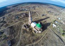 A igreja na vila Perevles Imagem de Stock