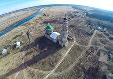 A igreja na vila Perevles Fotografia de Stock
