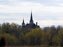 Igreja nas madeiras Imagens de Stock