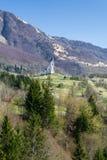 Igreja nas montanhas Imagens de Stock