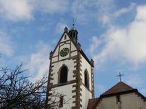 Igreja no céu azul Fotografia de Stock
