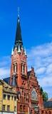 Igreja no centro de cidade Fotografia de Stock Royalty Free
