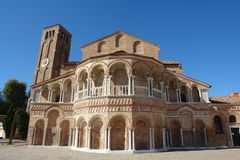 Igreja no console de Murano Fotos de Stock Royalty Free