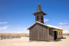Igreja no deserto de Namib imagem de stock