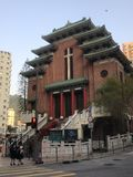 Igreja no estilo chinês da construção em Hong Kong Imagem de Stock Royalty Free