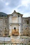 Igreja no grande monastério de Lavra Orthodox em Monte Athos, montanha santamente de Agion Oros, Chalkidiki, Grécia foto de stock royalty free