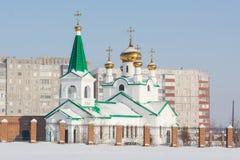 Igreja no inverno Imagens de Stock Royalty Free